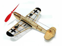 German Fighter Mini Rubber-Band Powered Laser Cut Balsa Aircraft  Guillows