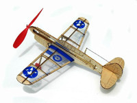 US Warhawk Fighter Mini Rubber-Band Powered Laser Cut Balsa Aircraft  Guillows