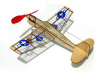 US Hellcat Fighter Mini Rubber-Band Powered Laser Cut Balsa Aircraft  Guillows