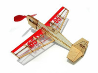 Stunt Flyer Mini Rubber-Band Powered Laser Cut Balsa Aircraft  Guillows