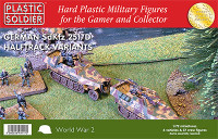 WWII German SdKfz 251/D Halftrack (4) 1/72 Plastic Soldier