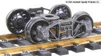 Arch Bar Trucks w/33 Ribbed Back Wheels (Metal) HO Kadee