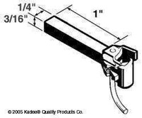 #1 Scale Coupler Straight Shank Kadee