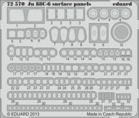 Ju88C6 Surface Panels for RVL (Painted Self Adhesive) 1/72 Eduard