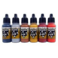 17ml Acrylic Paint Bottles Model Air Colors Vallejo