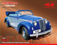 WWII Admiral Convertible German Passenger Car 1/24 ICM Models