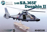 Sa365F Dauphin II Helicopter 1/48 Kitty Hawk (New Tool!)