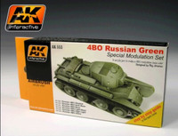 Russian Green 4BO Modulation Acrylic Paint Set (6 Colors) 17ml Bottles AK Interactive