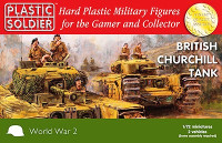 British Churchill Tanks (2) 1/72 Plastic Soldier