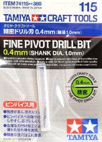 Fine Pivot Drill Bit (0.4mm, Shank Dia. 1.0mm) Tamiya