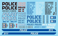 Modern Police 1/24-1/25 Gofer Racing Decals