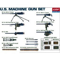 WWII US Machine Gun Set 1/35 Academy