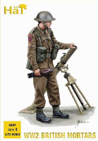 WWII British Mortar Team (32 w/4 mortars) 1/72 Hat