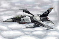 F-16A/C Fighting Falcon Block 15/30/32 Aircraft 1/144 Trumpeter
