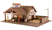 Built 'N' Ready Ethyl's Gas & Service Station HO Scale Woodland Scenics