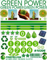Green Power Decal Pine-Pro