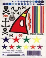 Jolly Roger Pirate Decals Pine-Pro