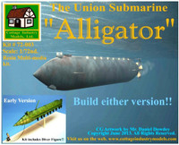 """Alligator"" The Union Submarine 1/72 Cottage Industries"