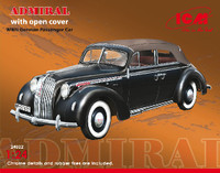 WWII Admiral Convertible German Passener Car w/Cover 1/24 ICM Models