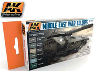 Middle East War Colors (Vol. 1) Acrylic Paint Set 17ml Bottles AK Interactive