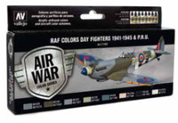 WWII RAF Day Fighters 1941-1945 PRU Model Air Paint Set  (8 Colors) Vallejo Paint