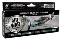 Luftwaffe Colors 1941 to End of War Model Air Paint Set (8 Colors) Vallejo Paint