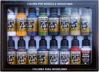 Buildings Model Air Paint Set (16 Colors) Vallejo Paint