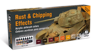 Rust & Chipping Effects Model Air Paint Set (8 Colors) Vallejo Paint