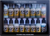 RLM Model Air Paint Set (16 Colors) Vallejo Paint