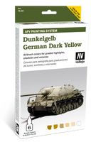 AFV German Dark Yellow Paint Set (6 Colors) Vallejo Paint