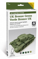 UK Bronze Green Paint Set (6 Colors) Vallejo Paint