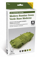 Modern Russian Green Paint Set (6 Colors) Vallejo Paint