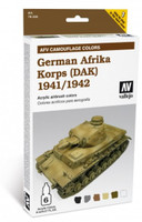 German Afrika Korps 1941-42 (DAK) Paint Set (6 Colors) Vallejo Paint