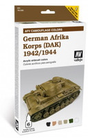 German Afrika Korps 1942-44 (DAK) Paint Set (6 Colors) Vallejo Paint