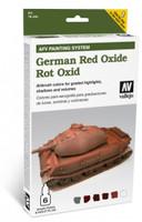 German Red Oxide Paint Set (6 Colors) Vallejo Paint