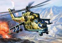 Mi-24V Hind Soviet Attack Helicopter (Snap Kit) 1/144 Zvezda