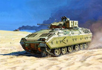 M2A2 Bradley US Infantry Fighting Vehicle (Snap Kit) 1/100 Zvezda
