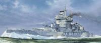 HMS Warspite British Battleship 1942 1/700 Trumpeter