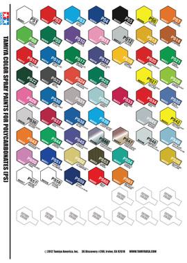 Tamiya Lexan Paint Colors