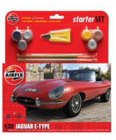 Jaguar E Type Car Starter Set 1/32 Airfix