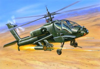 AH-64 Apache US Attack Helicopter (Snap Kit) 1/144 Zvezda