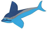 "72""x 48"" Spotted Dolphin Nylon Kite Gayla"