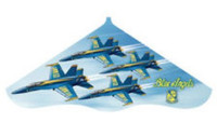 "42""x 22"" Blue Angels Delta Wing Kite Gayla"