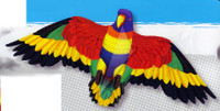 "55""x 24"" Rainbow Parrot Wing Flapper Kite Gayla"
