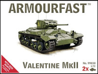 Valentine MkII Tank w/Side Skirts (2 Kits) 1/72 Armour Fast
