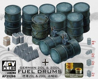 German 20L & 200I Fuel Drums 1/35 AFV Club