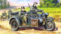 German Motorcycle w/Sidecar 1/48 Tamiya