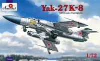 Yak-27K-8 NATO Code 'Flashlight-C' Soviet Interceptor Aircraft 1/72 A-Model
