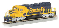 Santa Fe #5020 War Bonnet Yellow & Blue EMD SD40-2 Diesel Locomotive (DCC Equipped) HO Bachmann Trains