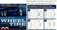 Big Rig Wheel & Tire Set 1/25 Moebius